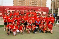 Clinic de los jugadores con alumnos de escuelas de la provincia de Castellón. #tenis
