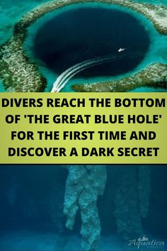 #DIVERS REACH THE #BOTTOM OF 'THE #GREAT BLUE #HOLE' FOR THE FIRST TIME AND #DISCOVER A DARK SECRET