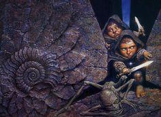 Sam, Frodo and Gollum - art by Oscar Chichoni