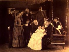 Portrait Louis Comfort Tiffany with his parents and his children 1888