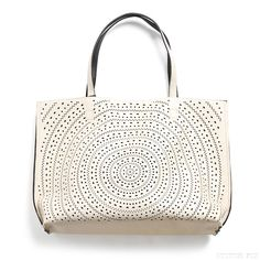 Stitch Fix Style | This Just In: Kaelyn Laser Cut Two-Tone Reversible Tote