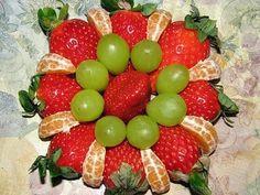 Las frutas nunca pasan de moda! Hermosos arreglos frutales ...