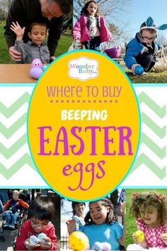 We've sifted through the web and browsed our local stores to bring you this list of where to find beeping, talking and noise-maker Easter eggs for your blind child.