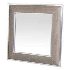Shop the Eichholtz Cobra Modern Classic Snakeprint Beveled Square Wall Mirror and other Wall Mounted Mirrors at Kathy Kuo Home Wall Mounted Mirror, Mirror Art, Beveled Mirror, Wall Mirrors, Flush Mount Chandelier, Wall Sconce Lighting, Sweetpea And Willow, Solid Rugs, White Mirror