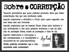 Sobre a Corrupção...