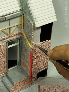 from individual bricks to gutters and downspouts, there arein this Step-by-Step guide, I will explain how to create old brick walls for a miniature Diorama.Applying brick to a doll house dollhouse Miniature Crafts, Miniature Houses, Miniature Dolls, Diy Dollhouse, Dollhouse Miniatures, Pringles Can, Mini Things, New Dolls, Miniture Things