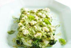 Grüne Frühlings-Lasagne mit Fisch