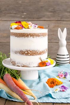 This classic Carrot Cake is one you'll want to add to your recipecollection!A moist and delicious cake paired with a not-too-sweet cream cheese frosting. | livforcake.com