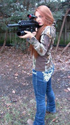 Slutty chicks with guns hips