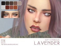 Lana CC Finds - [ Lavender ] - Soft Eyebrows by Screaming Mustard