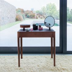 Wooden vanity table. Marie Claire Maison.
