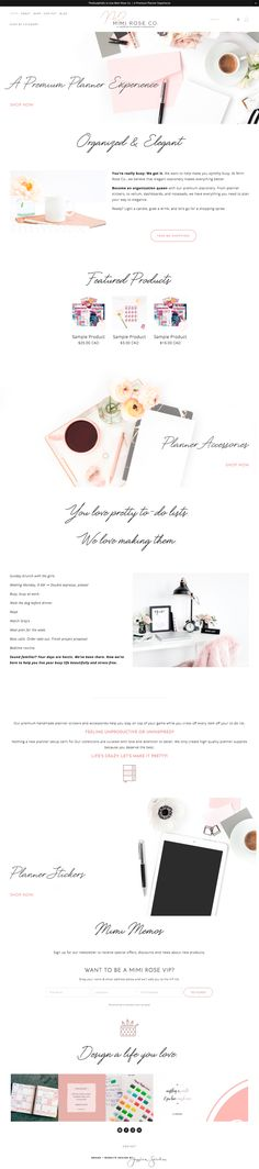 The design for the Mimi Rose Co. website was created with minimalism in mind, leaning on custom site animations and design details to elevate the design. | Brine Template | jessicastrohm.com