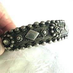 Old Bedouin Style Silver Cuff Bracelet from Yemen, Richly Decorated | craftsofthepast - Jewelry on ArtFire