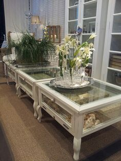 Want wood shadowbox tables in my sunroom....each with memories from various vacations we take