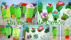 Un cactus de cartón para regalar. Una manualidad fácil para hacer con los papis y regalar a la mami: http://www.manualidadesinfantiles.org/un-cactus-de-carton-para-regalar