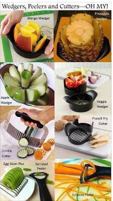 Pampered Chef has amazing Cutting Tools! Love Mangos, get a Mango Wedger! Love Pineapple, get a Pineapple Wedger! Want a multi purpose wedger, try the Veggie Wedger! Love em all. Get any of these here at http://new.pamperedchef.com/pws/734781nikkidean4pc