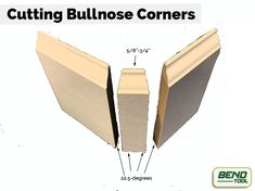 Discusses the angles and steps required to install a baseboard Bullnose corner. Corner Moulding, Crown Molding, How To Install Baseboards, Trim Carpentry, Carpentry Projects, Baseboard Trim, House Trim, Diy Home Repair, Trim Work