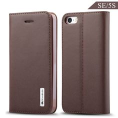 iPhone SE / 5S Wallet Case ,WenBelle [Flower Umbrella Series] GENUINE LEATHER Slim Fit,Stand Feature,Premium Protective Case Wallet Leather Flip Cases for Apple iPhone 5 5s Se 4.0 Inch (Brown). Pure hand made of first layer leather, full leather design and hand feeling is more top-grade. Good texture of outer layer, soft flannel lining, scratch resistant & shock resistant. Plus 1 Card Slot to conveniently store ID or Credit Card. Can fold into a stand to prop device horizontally for a...