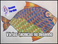 Livro de Colorir - PEIXE do Oceano Perdido | Luciana Queiróz