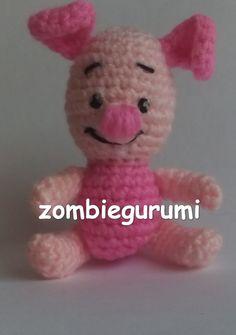 Piglet el Cerdito Amigurumi de Winnie the Pooh - Patrón Gratis en Español