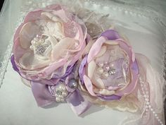 Bebé lavanda chica flor diadema pelo banda arco por lepetitejardin