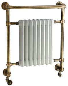 Introducing the DQ Croxton traditional wall mounted towel rail. The Croxton is manufactured from brass with 31.8mm tubing, traditional ball joints and comes complete with an integral radiator to maximise heat. The traditional towel rail is available as central heating only, dual fuel (for summer heating when your central heating is turned off) or completely sealed electric only. The radiator comes complete with a 5 year guarantee. Please note picture shown is Antique Brass. Prices from £806.53!