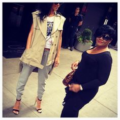 Only Rihanna can perfectly pull off the sweatpants & heels look!