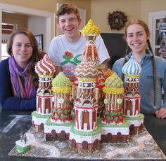 I've spendt hours designing elaborate gingerbread castles, like St. Basil's Cathedral. [P] Adele Epsy