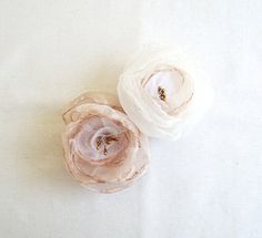 Bridal Accessories Hair Clip Set of 2 Blush by FairytaleFlower, $38.00
