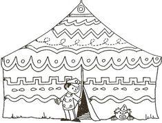 Worksheet Circus Tent for Circus Theme.•°•°•° Werkblad Circus Tent voor Circus Thema. Juf Joyce
