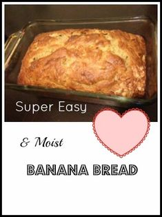 Super Easy & Moist Banana Bread!!! I eat this as a meal in the summer! -->http://www.debtfreespending.com/?p=56340