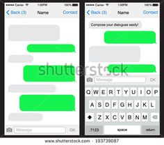Blank iPhone Text Message Bubble Template book covers