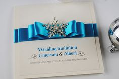 Luxury Crystal Snowflake Handmade Wedding Invitations - Snow Queen
