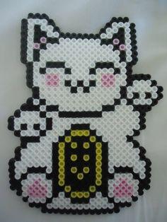 Maneki-neko perler beads by PerlerHime