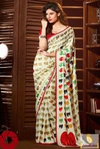 Cream Georgette Printed Casual Saree   http://www.pavitraa.in/store/casual-saree/   CallUs : +91-7698234040 (WhatsApp)  #saree, #sari, #sarees, #casualsarees, #printedsaree, #partywearsaree, #colorfulsaree, #FASHION, #womenclotes, #women, #silksaree, #monsoon, #rains, #romanticparty, #rainywackpartysaree, #pavitraa, #pavitraafashion
