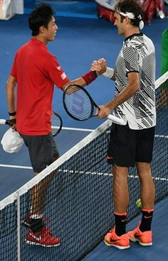 Roger Federer vs Kei Nishikori Open d'Australie 2017 8eme de finale