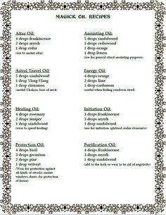 Magic oil mixes