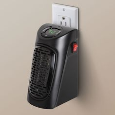 The Wall Outlet Personal Space Heater. This is the compact space heater that plugs in flush with a wall outlet and heats the immediate area of small intimate spaces. The Wall Outlet Personal Space Heater comes with The Hammacher Schlemmer Lifetime Guarantee at no additional charge. If this product ever disappoints you, for any reason, you may return your Hammacher Schlemmer purchase for exchange, credit, or refund. Item 87772 Price $59.95