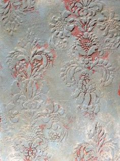 Plaster Finish and Annie Sloan . Provence Stenciled Plaster Finish with the Vella. DIY: Vella Texture Tutorial AND Combined wall finish techniques Plaster Art, Plaster Walls, Plaster Texture, Paint Effects, Annie Sloan Chalk Paint, Wall Treatments, Painting Patterns, Textured Walls, Diy Wall