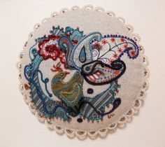 Peacock Paradise - Stumpwork   by *MasonBee  Artisan Crafts / Textiles / Fiber Art