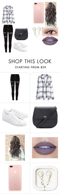 """""""day to night idea #1"""" by janeid-castle on Polyvore featuring River Island, Rails, adidas Originals, Kate Spade and Jeffree Star"""