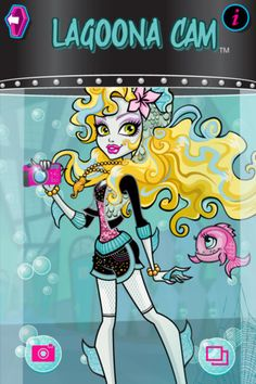 """Heavenspot launched a new module called the """"Lagoona Cam"""" which allows users to """"submerge"""" their photos for Mattel's """"Monster High Ghoul Box"""" iPhone app!  Design & Build by Heavenspot!"""