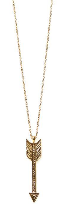 Accented Arrow Drop Necklace