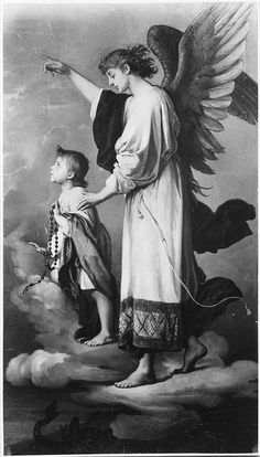 """""""An Angel and a Child with Beads"""" by Josef Buchbinder, National Museum of Warsaw"""