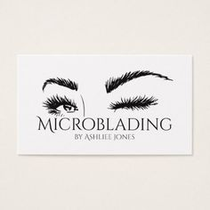 Microblading Eyebrows Tattoo Permanent Makeup Business Card - makeup artist gifts style stylish unique custom stylist - March 16 2019 at Tweezing Eyebrows, Threading Eyebrows, Microblading Eyebrows, Microblading Aftercare, Diy Tattoo Permanent, Permanent Eyebrows, Permanent Makeup, Perfect Eyebrows, Perfect Eyes