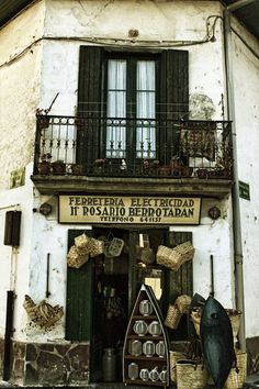 Hondarribia,Guipuzcoa....Such a fun shop. It is tiny, and there's stuff in every inch!