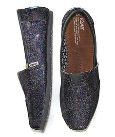 I love that Toms makes sparkle shoes for grown-ups. :: Black Rainbow Glitter Classics on Zulily right now