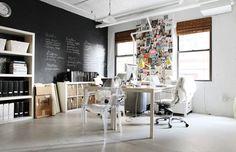 Blackboard workshop wall via Lanalou Style