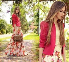floral maxi skirt..outfit is lovely