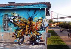 For the past few months Portuguese artist Bordalo II (previously) has been stalking the streets of Lisbon looking for heaps of trash.